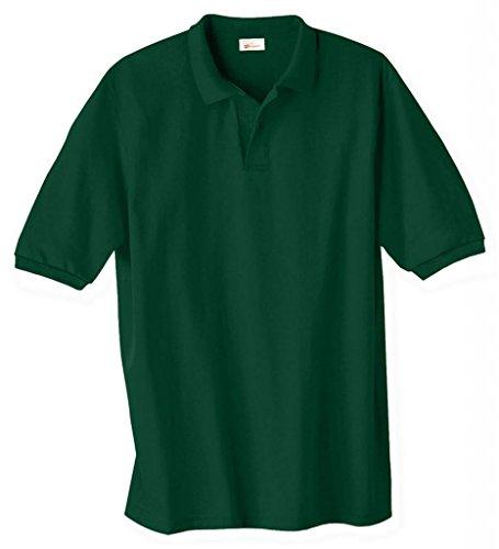 Hanes Herren Comfortblend EcoSmart Jersey Polo Moosbeere