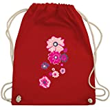Blumen & Pflanzen - Blumen - Unisize - Rot - WM110 - Turnbeutel & Gym Bag