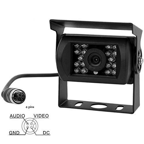 Wasserdichte Auto-Rückfahrkamera, IR-Nachtsicht, 4-polig, CCD, 12 V-24 V, Rückfahrkamera für Vans, Bus, LKW, Anhänger - 4 Ccd-ir-kameras
