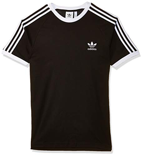 Adidas 3-stripes, t-shirt uomo, nero, l