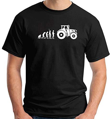T-Shirt Uomo Nero DEC0343 Trattore Evoluzione