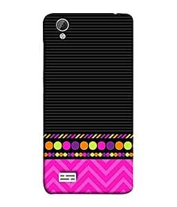 FUSON Designer Back Case Cover for Vivo Y31 :: VivoY31L (White Pack Craft Paper Dots Black Background)