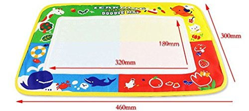 Amogha Scribble Boards, 4Color Water Drawing Mat Board &Magic Pen Doodle Kids Toy Gift 46X30cm