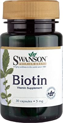 Swanson Biotin (5mg, 30 Capsules) by Swanson Health Products