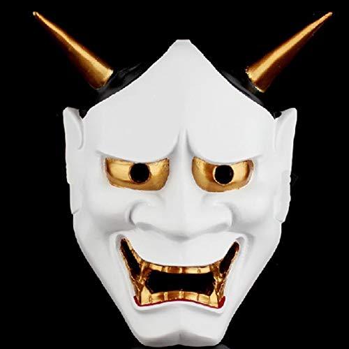 Kostüm Themen Gras Mardi - Vintage Buddhist Böse Maske Halloween Kostüm Horror Maske Maske Film Thema Maske (Weiß) - Weiß, free size