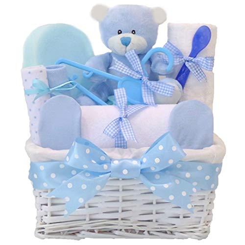 bleu bébé Panier Cadeau/Panier/Baby Pour Bébé Douche cadeau souvenir de bébé/New Arrival//envoi rapide ()