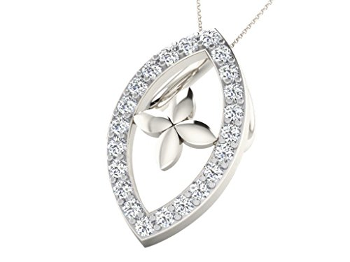'His & Her 0.09cts Diamond Pendant in 9KT White Gold (GH color, PK Clarity) with 16Silver Chain, Oro bianco, cod. HHP9853W/18/NS
