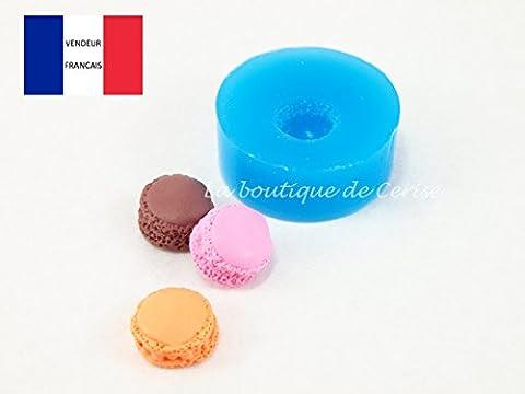 Moule silicone gateau miniature macaron 1cm pour fimo, pâte à modeler, resine, porcelaine froide