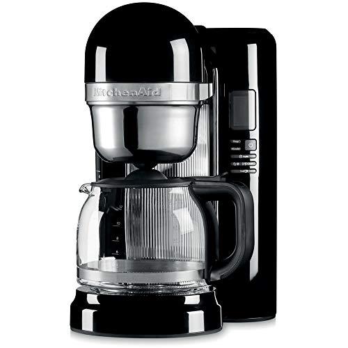 KitchenAid 5KCM1204EOB - Cafetera (Independiente, Máquina de café en cápsulas, 1,7 L, De café molido, 1100 W, Negro)