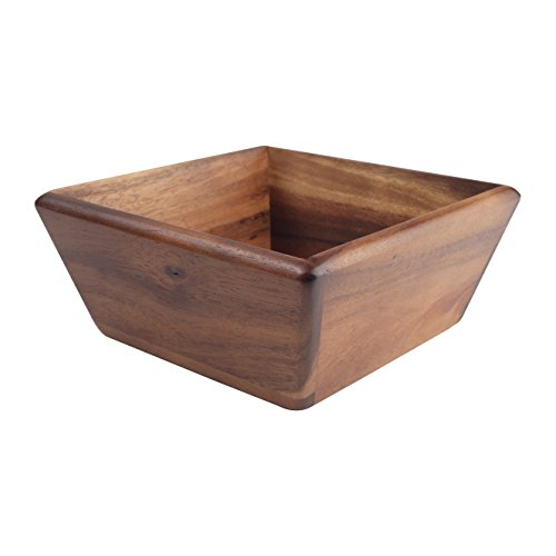 T&G Woodware Glorious Nourriture Bol carré, Acacia, Grande