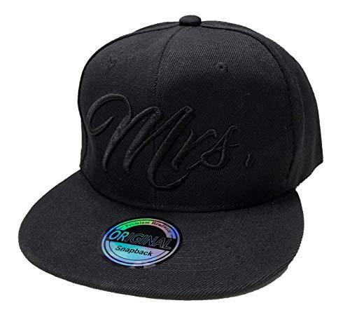 JameStyle26 Mr. & Mrs. Snapback Set USA Cap Kappe Basecap Mütze Trucker Cappy Kult Partner Look (Mrs. Black Edition) Hip Hop Trucker Hats