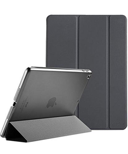 ProCase iPad 9.7 Hülle 2018 iPad 6 Generation /2017 iPad 5 Generation Tasche - Äußerst Schlank Leichtgewicht Ständer mit Transluzent Matt Rückseite Intelligente Hülle für Apple iPad 9.7 Zoll -Grau (Ipad Der Ersten Generation Tasche)
