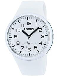 Lorus Watches - RRX53DX9 - Montre Femme - Quartz Analogique - Eclairage - Bracelet Silicone Blanc