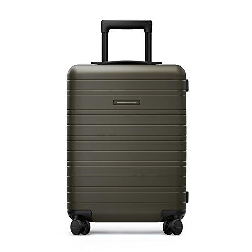 HORIZN STUDIOS H5 Handgepäck | Kabinen Trolley Koffer | Hartschale 55 cm, 35 L, mit 4 Rollen und TSA Schloss, Olivgrün (Dark Olive) - 2