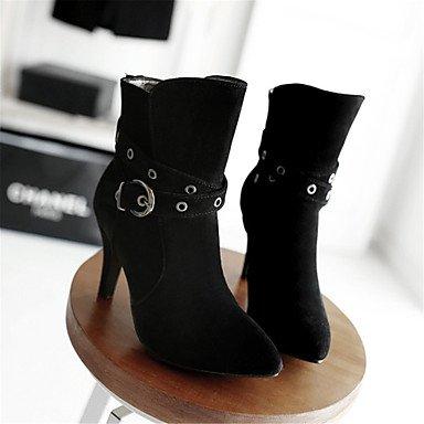 Wsx & Plm Femmes-bottines-mariage Loisirs Bureau Et De Travail Casual-confortable-a Stiletto-fleece-noir Gris Beige Beige