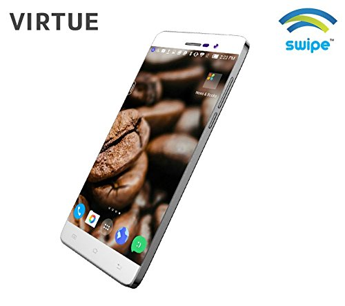 "SWIPE VIRTUE 5"" 3G Smartphone HD, 1280 x 720 Android OS Quad-core 1.3GHz(White)"