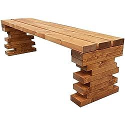 Banco de madera para jardín 150x38.5x40H DISPONIBLE TANBIEN A MEDIDA