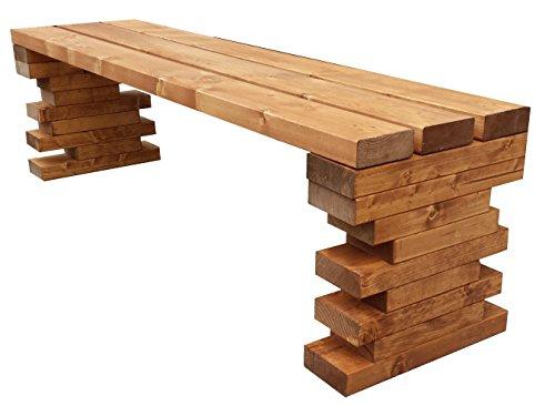Gartenbank Sitzbank Holzbank parkbank balkon terrassenmobel für Innen und Außen geeignet 100x38.5x40 cm. Nach Maß verfügbar!