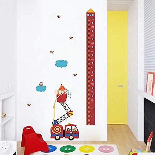 Tier Feuer Rettungswagen Höhe Maßnahme Wandaufkleber Kinderzimmer Wachstum Chart Hause Tür Decor Wohnzimmer PVC Wandbild Wandkunst Aufkleber - Tür Chart Wachstum