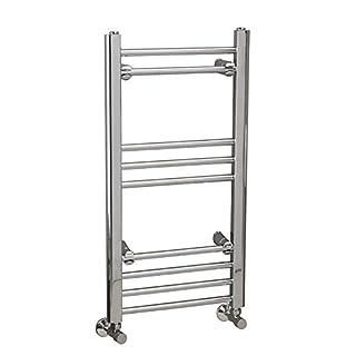 Requena Heated Towel Rail Chrome Bathroom Ladder Radiator - All Sizes (Straight, 650 x 400)