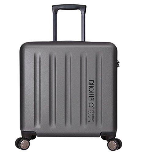PINCHU Pilot Cabin Suitcases Laptop fahrbare Business Trolley Computer Aktentasche weitermachen Roller Cases, gray (Fahrbare Notebook)