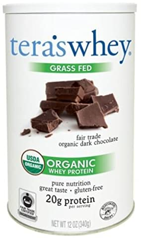 tera's: Organic Low-Carb Gluten-Free Certified Whey Protein, Fair Trade Certified Dark Chocolate, 12