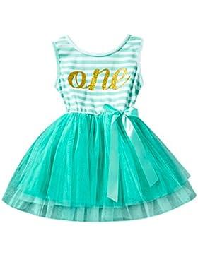 Baby Kleid erthome Sleeveless Streifen Tutu Prinzessin Bow Dress Geburtstag Party Geschenk