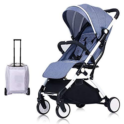 Carro de bebé Silla de paseo ligera y compacta,cochecito de portátil,plegable con una mano,arnés...