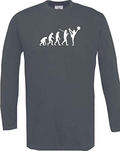 Krokodil Man Langarmshirt Evolution Cheerleader Cheerleading Kostüm Fun Sport Tanz Farbe grau Größe - Evolution Of Dance Kostüm