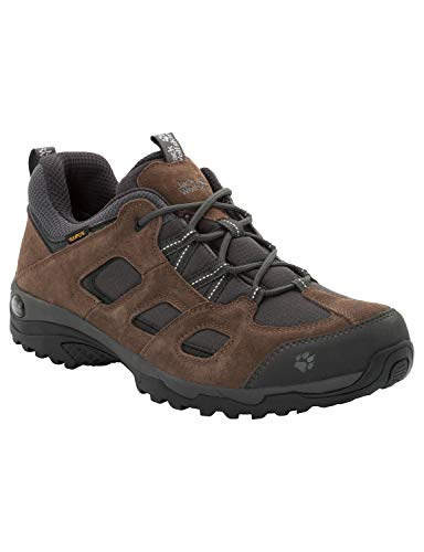 Jack Wolfskin Herren Vojo Hike 2 Texapore Low M Wasserdicht Trekking-& Wanderhalbschuhe, Braun (Dark Wood 5690), 45 EU