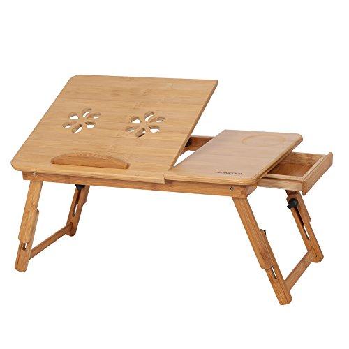 Cocoarm Mesa para Ordenador Portatil de Bambú
