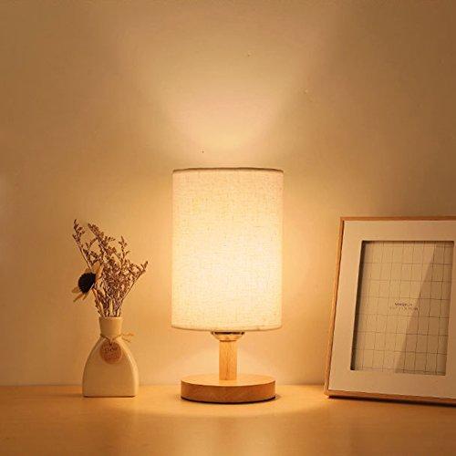 Holz Tischlampe ThreeCat Nachttischlampe mit E27 Glühbirne Atmosphärenlampe für Schlafzimmer/Studierzimmer /Wohnzimmer/Kopfende kreative LED kleine lampe