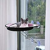 YRRC-MZ Pet Nest, Ventosa Tipo Appeso Finestra davanzale Nido 4 Ventosa Mini Lettino Arrampicata Torre Godere Confortevole Inverno Prendere Il Sole,Pink