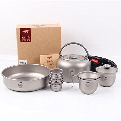 Keith ti3900Titan Tee Cup Camping Tea Cup Wasserkocher Outdoor Wasserkocher Tee 1000ml KA100