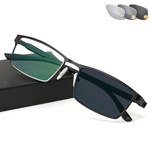 ZYFA Lesebrille,Anti blaulicht Computer Brille, Selbsttönende Lesebrille mit UV-Schutz