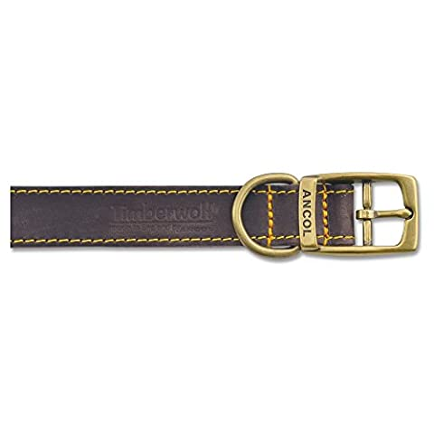 Ancol Pet Products Timberwolf Leather Collar (20-26cm (Size 1))