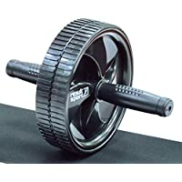 ResultSport® Double Abdominal Exercise Roller Wheel with Large 18.5cm wheel & Knee Pad - building muscle in the shoulders, arms, back and abdominals