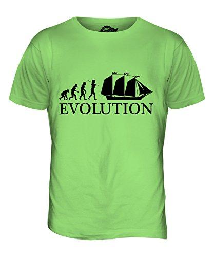 CandyMix Schoner Evolution Des Menschen Herren T Shirt Limettengrün