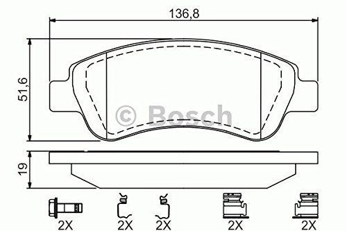 Bosch 0204114546 Drum Brake Shoes