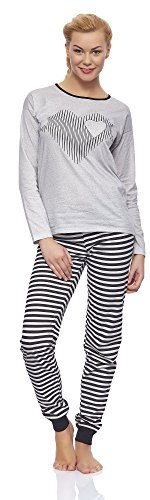 Italian Fashion IF Ensemble de Pyjama Femme Bella 0115 Gris