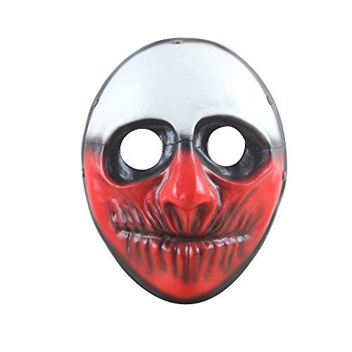 Preisvergleich Produktbild Lingcheng Payday 2 Gameplay-Maske,  Halloween-Maske für Weihnachten / Cosplay-Party,  Maskerade,  Fechten,  Kriegsspiel,  Kostümspiel und mehr (PD2-Wolf)