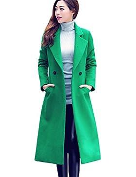 K-youth® Elegantes Abrigos De Mujer Invierno Largos Fiesta Bolsillos Chaquetas Rompevientos Outcoat