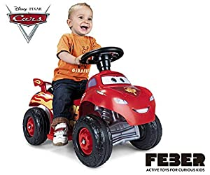 FEBER- Quad Cars Lightning Mcqueen 3 6V UK, (Famosa 800011185)