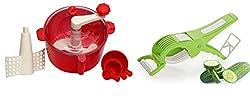 REDFAM Super Quality Food Processor/Atta Maker Set/Dough Maker Machine for Kitchen and 1 Peeler Cutter Free