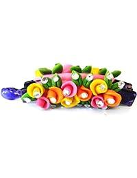 Handmade Artificial Jewellery Proceline Dough Work Banana Hair Clip /Proceline Dough / Hair Accesoseries /hair... - B073WDCM1K
