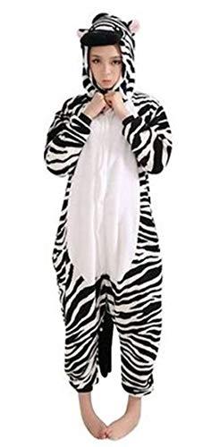 Hot unisex costume carnevale halloween festa party pigiama animali kigurumi cosplay zoo onesies tuta (small, zebra)