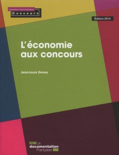 L'conomie aux concours de Jean-Louis Doney (30 avril 2014) Broch
