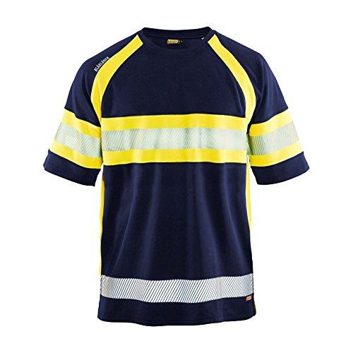 Preisvergleich Produktbild Blakläder 3337105189334X L Gr. 4X Große Hohe Sichtbarkeit t-shirt–navy blau/gelb
