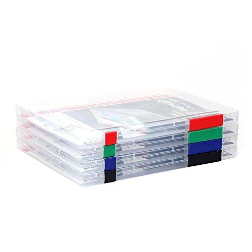 Holo Cute Tragbar Mappe Kunststoff A4 Ablageboxen File Storage Box Farbe zufällig (Kunststoff File-storage Boxen)