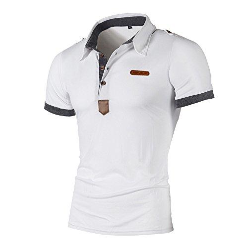 Saingace Herren Poloshirt Sommer Kurzarm Slim Fit Polohemd T-Shirt Sportshirt für Outdoor Manner Yacht Golf (Disney Kostüm Tier Männer Für)